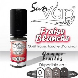 Fraise blanche Sunvap 10 ml